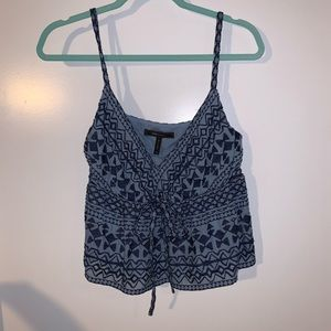 Bcbg embroidered baby doll cami